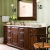 Traditional Green Bathroom