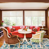 Eclectic Color Scheme: Brown + Coral + China Blue