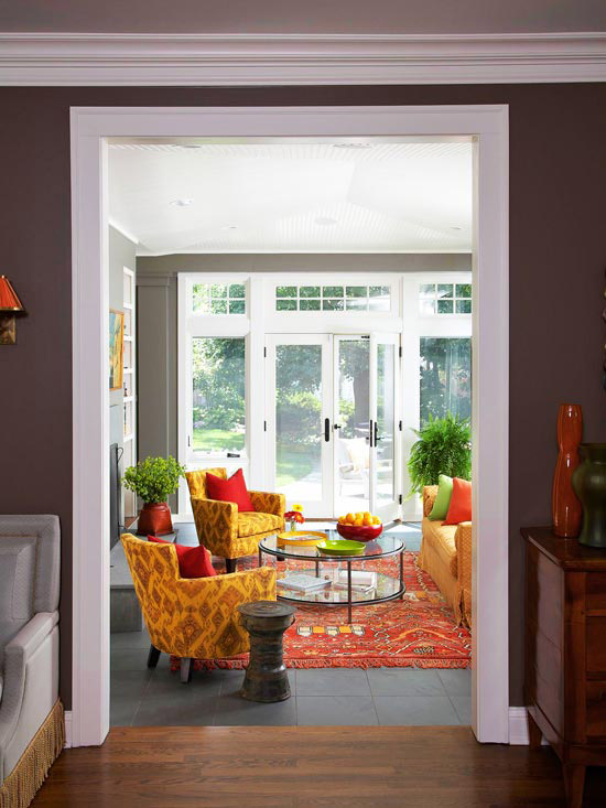 warm color schemes using red yellow and orange hues
