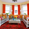 Sociable Color Scheme: Red + Gold + Orange