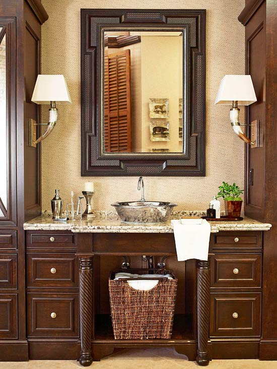 Traditional bathroom design decorating ideas for Traditional master bathroom design ideas