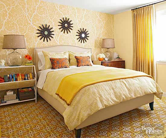 brighten a bedroom with a yellow makeover