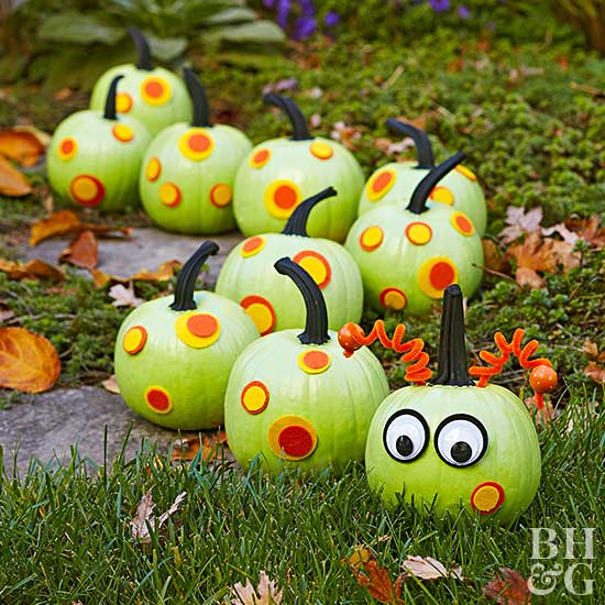 Creepy-Crawly Caterpillar Pumpkins