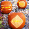 Scraped and Carved Pumpkin Messages
