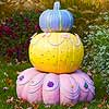 Tiered Pastel Painted Pumpkins