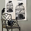 Spooky Birdcage Wall Decoration