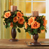 Rose Candleholders Fall Centerpiece