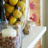 Fruit-and-Nuts Fall Mantel