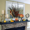 Outdoor Elements on Fall Mantel