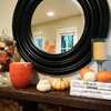 Striking Orange-and-Black Mantel