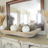 Wheat-and-Pumpkins Fall Mantel