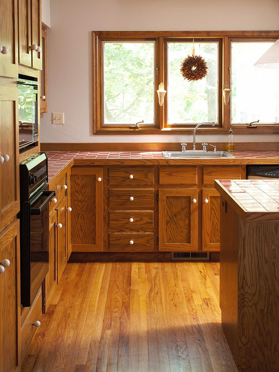 Before And After Traditional Meets Trendy Kitchen