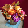 Bouquet of Fall Flowers and Vegetables