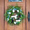 Create a Flower-Focused Christmas Wreath