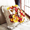 Flowery Fabric Pillow