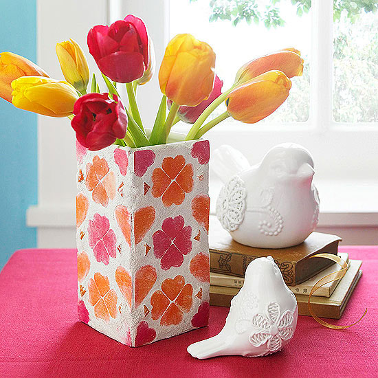 Mother's Day Mosaic Vase