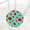 Felt Snowflake Cutout Christmas Ornament