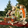 Funny Skeleton Picnic