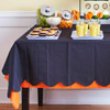 Layered Orange-and-Black Paper Table Cloth