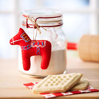 Homemade Dala Horse Christmas Craft