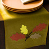 Linen-Leaf Fall Table Runner