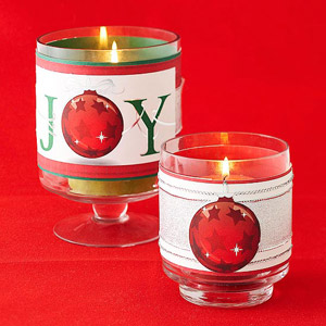 Christmas Card Candleholders from Better Homes and Gardens