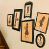 Framed Character Silhouettes Wall Decoration