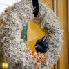 Spanish Moss Wreath with Raven