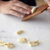 Or form the pasta by using a cavatelli paddle