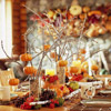 Pumpkin Tree Tabletop Decoration