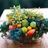 Seasonal Bounty Basket Centerpiece