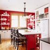 Country Kitchen in Red and White