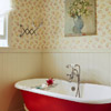 Bath with Red Tub