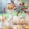 White Pumpkins Tabletop Decoration