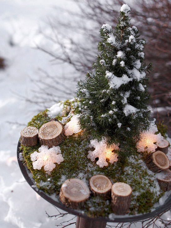 Spruce Outdoor Centerpiece