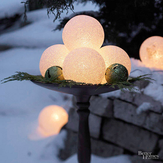 Glowing Holiday Globes