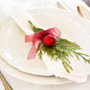 Evergreen-and-Ornament Napkin Display