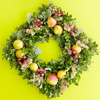 Combine Boxwood and Fruit for a Diamond Christmas Wreath