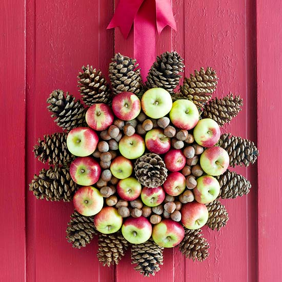 Use Apples to Create a Medallion Wreath