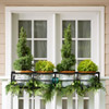 Potted Evergreens Railing Decoration