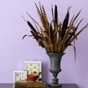 Tall Grass-and-Feathers Tabletop Decoration