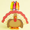 Kids' Table: Turkey Crayon Holder