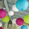Overhead Outdoor Party Decorations