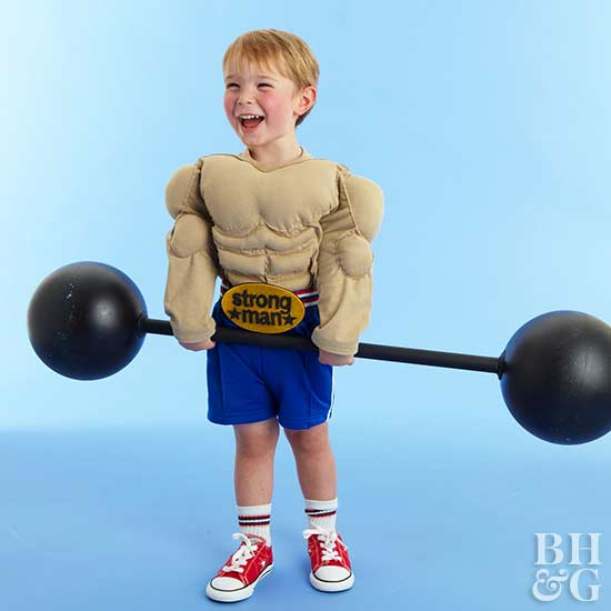 Make a Kid's Muscle Man Costume for Halloween