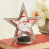 Chipboard Star Santa Decoration