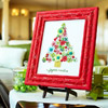 Embroidered Fabric Christmas Tree