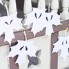 Paper Leaf Ghost Garland