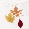 Pressed-Leaf Ornaments