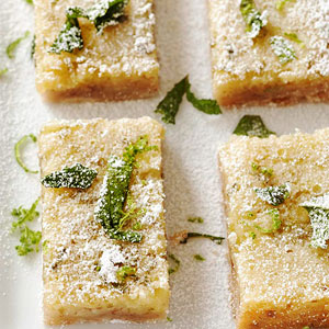 Pecan-Crusted Mojito Bars