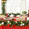 Add Festive Greenery to a Buffet Spread 